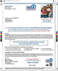 ARMs to FHA Mailer